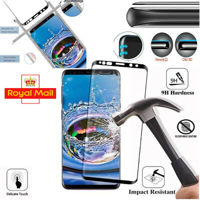 For Samsung Galaxy S8 PLUS Full Curved Tempered Glass LCD Screen Protector Black