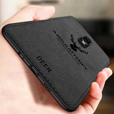 HandyHülle For OnePlus 6T 6 5T Slim Fabric Texture Soft Shockproof Case Cover