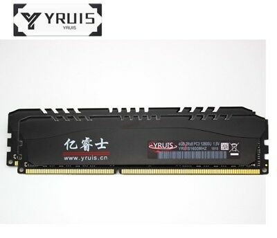 YRUIS 8GB 2X4GB PC3-12800 DDR3-1600MHz DIMM Desktop RAM 2 Years Warranty R1US
