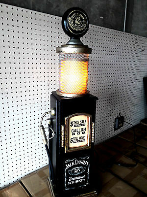 Whiskey Lovers Gas Pump Cabinet Lamp.Mancave.Gameroom.Bar.