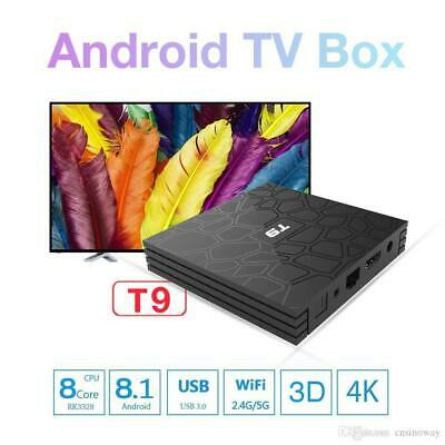 Smart TV BOX T9 PRO Android 7.1.2 4GB RAM 32GB 4K IPTV GPU 5 CORE QUAD WIFI DSI
