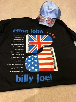 Elton John Fan Outfit (Billy Joel) Concert Shirt Hat Glasses