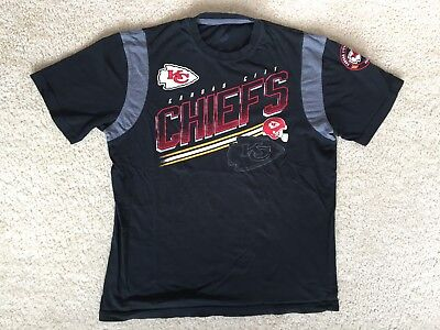 PRE OWNED Men's Kansas City Chiefs Black Shirt Size L