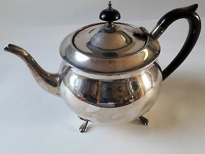 Lovely Vintage Yeoman Silver Plated Footed Tea Pot