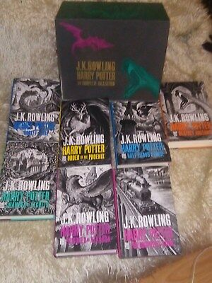 Harry Potter Boxed 7 hardback books Set Complete Collection J K Rowling (2013)