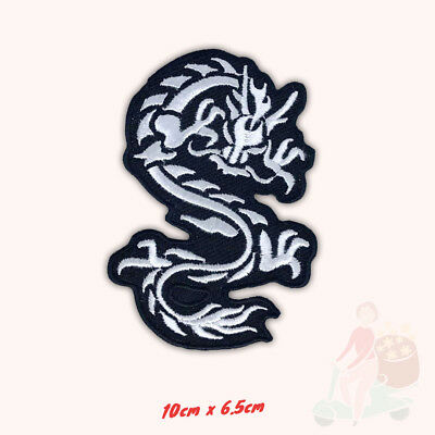Tribal Tattoo Dragon Biker Embroidered Sew/Iron on Patch Badge applique