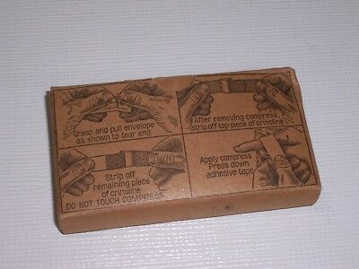 Military First Aid Kit Supplies 1 inch compresses bandaid NEW IN ORIGINAL BOX