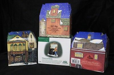 4 - DEPARTMENT 56 Charles Dickens CollectorsEdition Christmas Ornaments