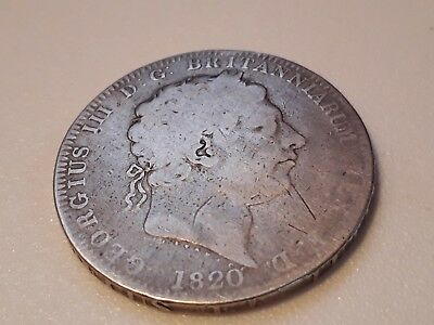 1820 GEORGE 111 Solid Silver CROWN Coin