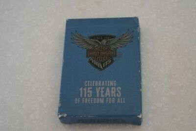 Harley Davidson Celebrating 115 Years Of Freedom For All Deck Of Cards