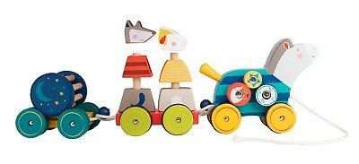 """Moulin Roty Cheval D'activites A Tirer  """"zig Et Zag""""  Reference 659340"""
