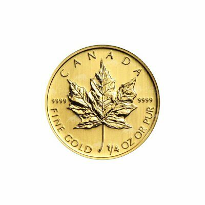 1/4 oz Random Year Canadian Maple Leaf Gold Coin