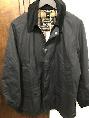 NWT Men's Barbour Sylkoil Ashby Jacket - Size Medium - Navy - MSRP $399