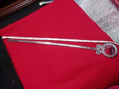 hector aguilar 980/1000 sterling candle snuffer with 2 Amethyst gem top + hand