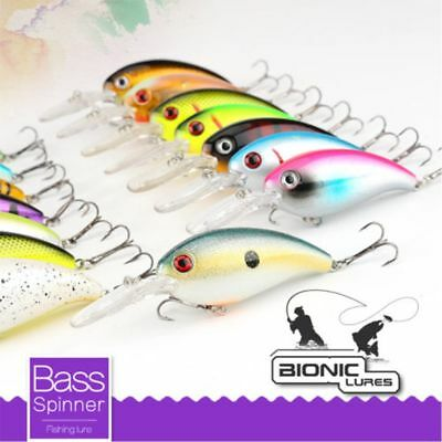 10CM Wobblers Bass Spinner Bait Artificial Fishing Lures Fishing Tackle BN