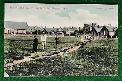 Gullane   Church   Golf Club House   East Lothian   Scotland   Vintage  Postcard
