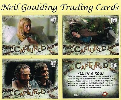The Walking Dead - ROAD TO ALEXANDRIA ☆ CAPTURED ☆ TARGET Inserts #CA-1 to #CA10