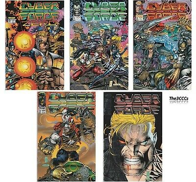 1992 CYBER FORCE #0 - #4 Complete Image Comics   -   CLEARANCE