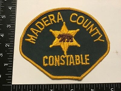 Vintage MADERA COUNTY CONSTABLE California POLICE Patch Rare CA Old Cheese Cloth