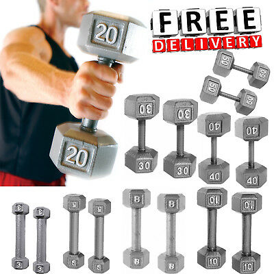 Weight Dumbbell Set Iron Hex Hand Strength Workout Home Gym Fitness Equipment