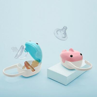 Portable Whale Design Baby Care Pacifier Storage Case Infant Soother Box Pour