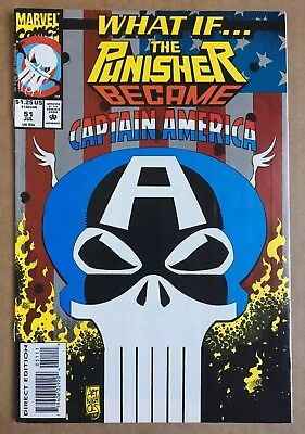 What If... #51  (1993) Marvel  FN/VF-  Punisher became Captain America
