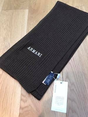 Brand new  Armani junior wool scarf in brown.  Suitable for junior and adult