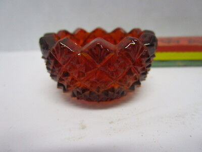Vintage Red glass pineapple pattern salt cellar