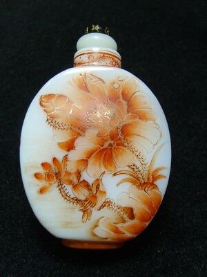 Exquisite Chinese enamel glass Snuff bottle- See Video         5