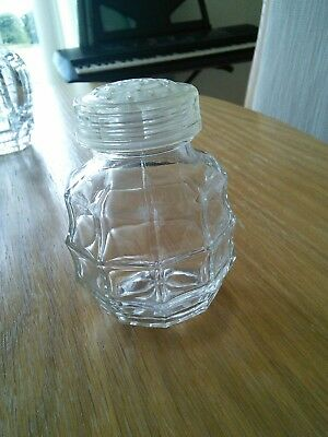 Glass sugar shaker, retro