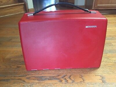 Vintage Genuine Red Bernina 830 Record Sewing Machine Carrying Case