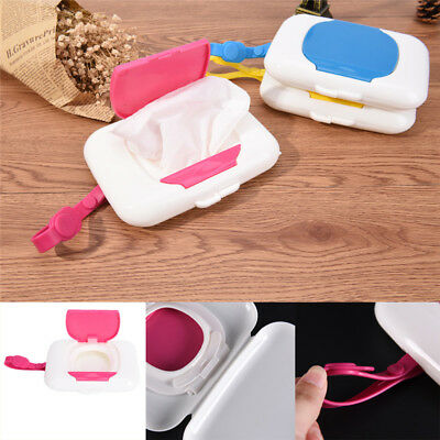 Baby Travel Wipe Case Child Wet Wipes Box Changing Dispenser Storage HolderBLUS