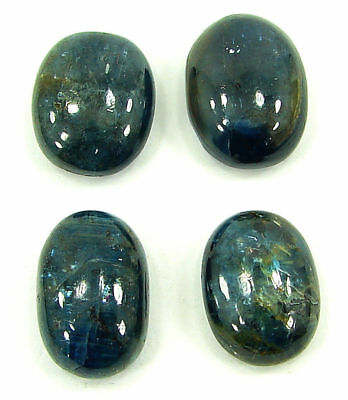 59.50 Ct Natural Blue Kyanite Loose Cab Gemstone Wholesale Lot of 4 Pcs - 17724