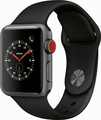 Apple Watch Series 3 (GPS + Cellular) 38mm Space Gray Aluminum Case