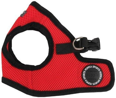Puppia Soft Vest Harness, L, Red,
