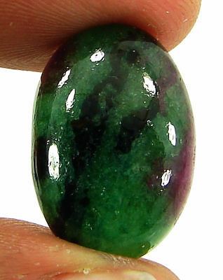 16.60 Ct Natural Ruby Zoisite Loose Gemstone Cabochon Stone - 19418