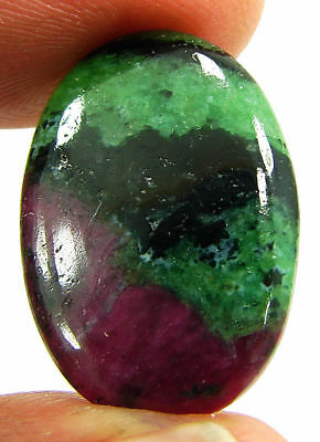 14.75 Ct Natural Ruby Zoisite Loose Gemstone Cabochon Stone - 19423