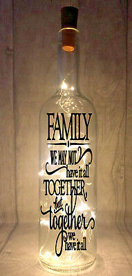 Family Together We Have It All Novelty Light Up Wine Bottle Present Gift idea
