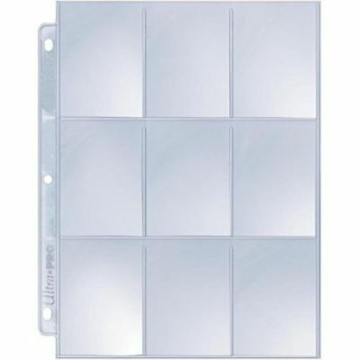 (5) Ultra Pro SILVER 9 Pocket Pages - Storage Sheets for Cards, Coupons