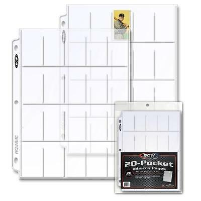 Lot of 20 BCW Pro 20-Pocket Tobacco Card Album Pages T206 binder sheets