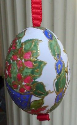Christmas Tree Decoration Real Egg Hand Painted Austria Brand New