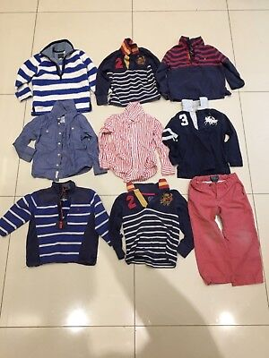 Bundle of boys designers clothes age 3, Joules and Polo Ralph Lauren 9 items