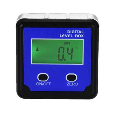 Base Magnetic Protractor Inclinometer Digital Angle Finder Bevel Level Box