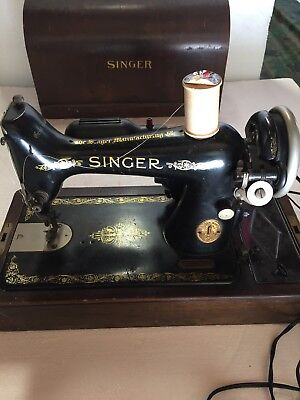 40 VINTAGE 40 SINGER SEWING MACHINE Model 40 4040 With FOOT PEDAL Extraordinary 1923 Singer Sewing Machine