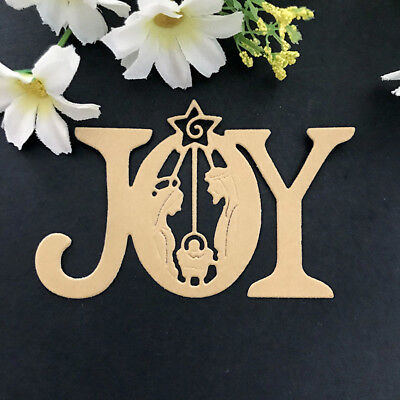 Joy letter Design Metal Cutting Dies For DIY Scrapbooking Card Paper Album 0cn