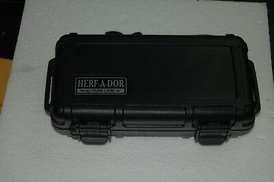 HERF-A-DOR X5 Cigar Caddy TRAVEL HUMIDOR HOLDS 5 CIGARS! WATERPROOF