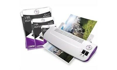 """Purple Cows Hot and Cold 9"""" Laminator   Warms up in just 3 - 5 minutes with 50"""