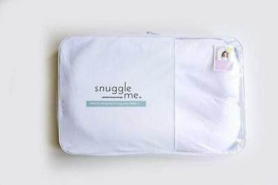 Snuggle Me Organic Patented Sensory Lounger for Baby organic cotton, White