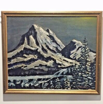 AUTH.IMPORTANT CANADIAN LISTED ROCKIES IMPRESSIONISM C1935 Peter WHYTE 1905 1966
