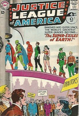 JUSTICE LEAGUE of AMERICA The Super-Exiles of Earth DC Comic No. 19 May 1963